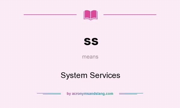 What does ss mean? It stands for System Services