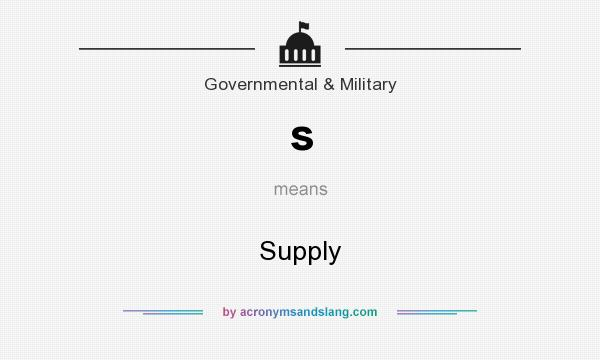 What does s mean? It stands for Supply