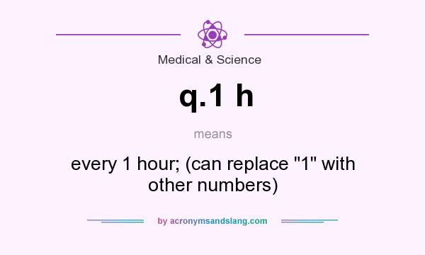 What does q.1 h mean? It stands for every 1 hour; (can replace 1 with other numbers)