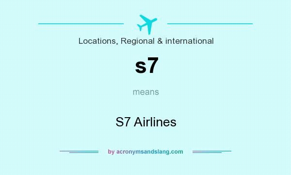 What does s7 mean? It stands for S7 Airlines
