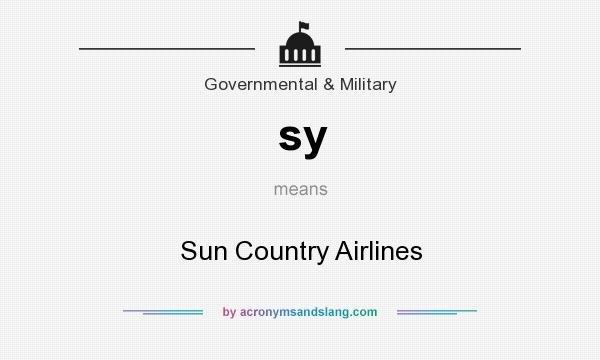What does sy mean? It stands for Sun Country Airlines