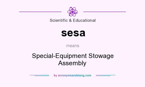 What does sesa mean? It stands for Special-Equipment Stowage Assembly