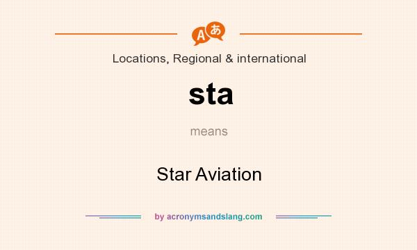 What does sta mean? It stands for Star Aviation