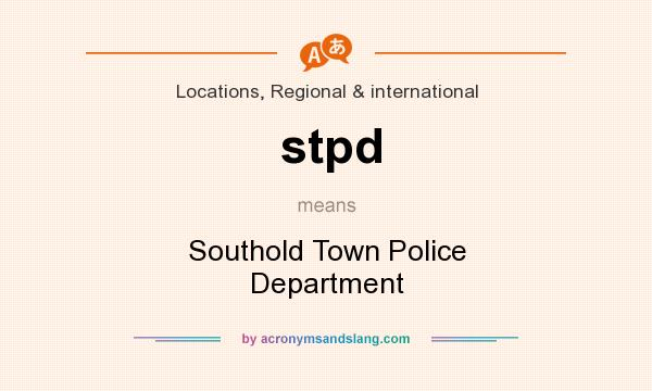 What does stpd mean? It stands for Southold Town Police Department