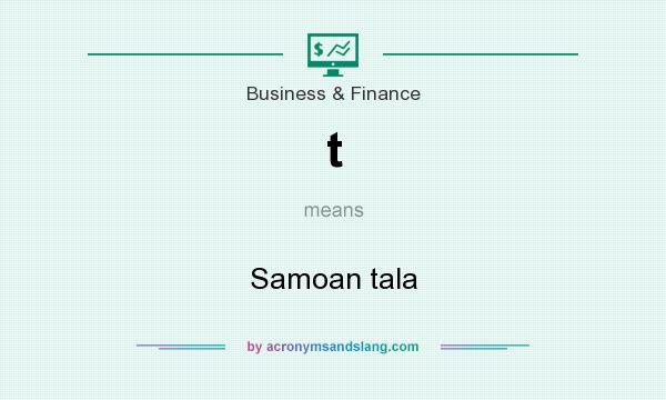 What does t mean? It stands for Samoan tala