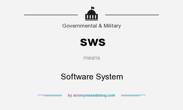 What does sws mean? It stands for Software System