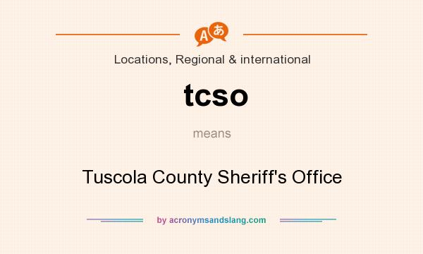 What does tcso mean? It stands for Tuscola County Sheriff`s Office