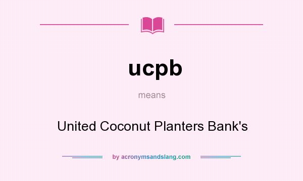 """united coconut planters bank swot Finally, the government has secured ownership of 722 percent of the united coconut planters bank (ucpb) shares from business tycoon eduardo """"danding"""" cojuangco jr which were purchased in the 1970s using the controversial coco levy funds."""
