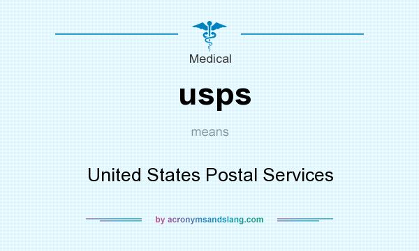 What does usps mean? It stands for United States Postal Services