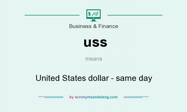 What does uss mean? It stands for United States dollar - same day