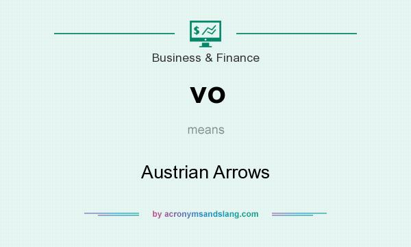 What does vo mean? It stands for Austrian Arrows