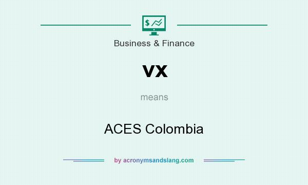 What does vx mean? It stands for ACES Colombia