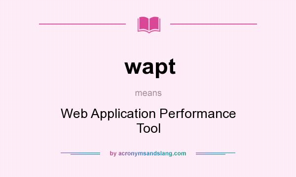 performance tool for web application