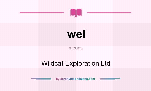 What does wel mean? It stands for Wildcat Exploration Ltd