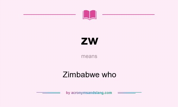 What does zw mean? It stands for Zimbabwe who