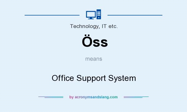 What does Öss mean? It stands for Office Support System