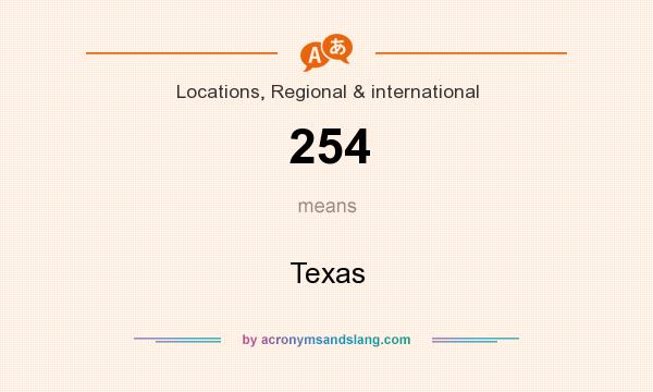 What does 254 mean? It stands for Texas
