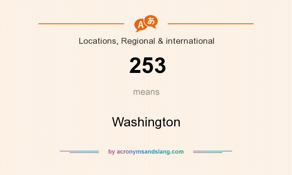 What does 253 mean? It stands for Washington