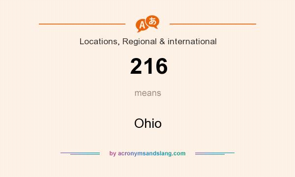 What does 216 mean? It stands for Ohio