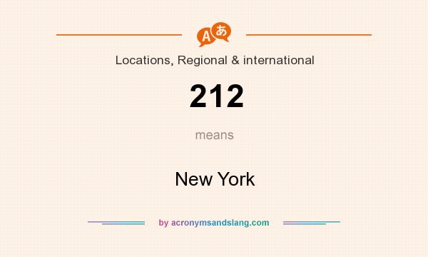What does 212 mean? It stands for New York
