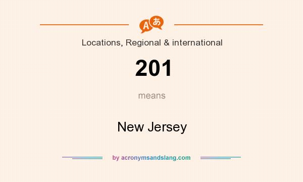 What does 201 mean? It stands for New Jersey