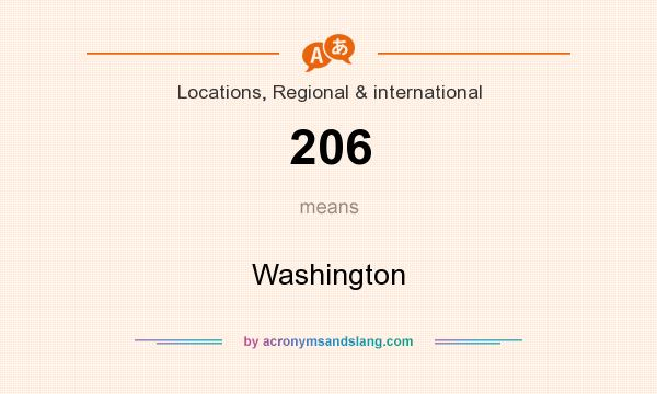 What does 206 mean? It stands for Washington