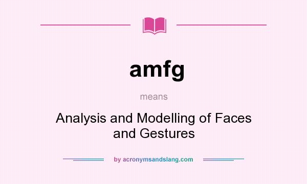 What does amfg mean? It stands for Analysis and Modelling of Faces and Gestures