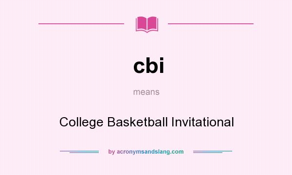 Cbi College Basketball Invitational In Undefined By