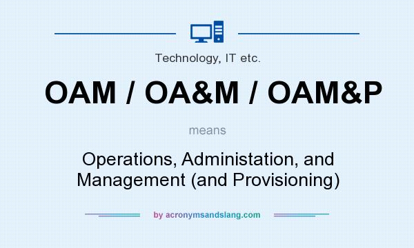 What does OAM / OA&M / OAM&P mean? It stands for Operations, Administation, and Management (and Provisioning)