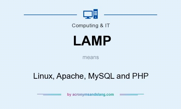 What does LAMP mean? It stands for Linux, Apache, MySQL and PHP