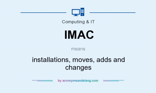 What does IMAC mean? It stands for installations, moves, adds and changes
