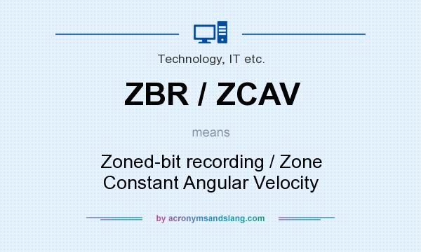 What does ZBR / ZCAV mean? It stands for Zoned-bit recording / Zone Constant Angular Velocity