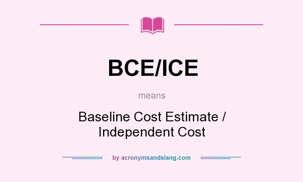 What does bce ice mean definition of bce ice bce ice stands for