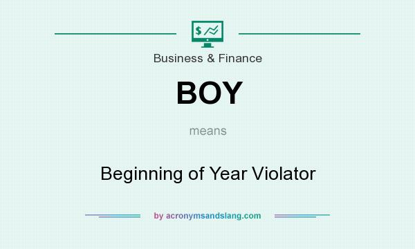 What does BOY mean? It stands for Beginning of Year Violator