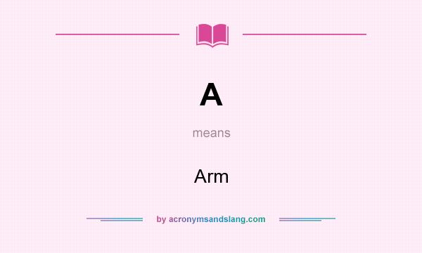 What does A mean? It stands for Arm
