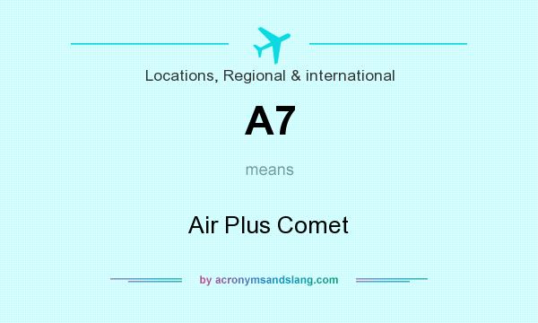 What does A7 mean? It stands for Air Plus Comet