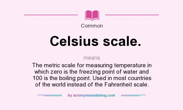 Zero Definition What does Celsi...