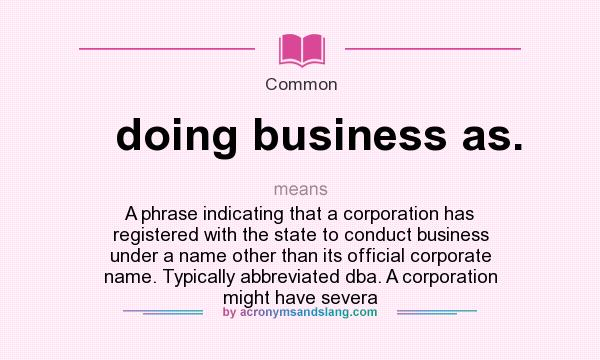 Doing business as abbreviation