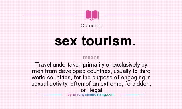 Sex tourism and third world