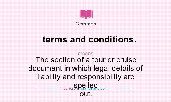what does terms and conditions