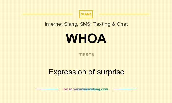 What does WHOA mean? It stands for Expression of surprise