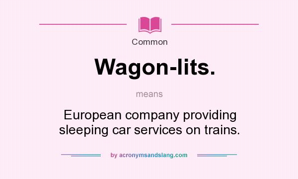 What does Wagon-lits. mean? It stands for European company providing sleeping car services on trains.