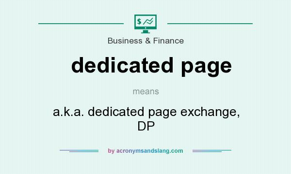 What does dedicated page mean? - Definition of dedicated page ...