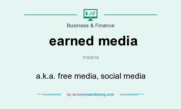 What does earned media mean? It stands for a.k.a. free media, social media