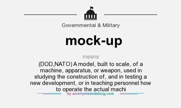 What does mock up mean definition of mock up mock up for Definition construction