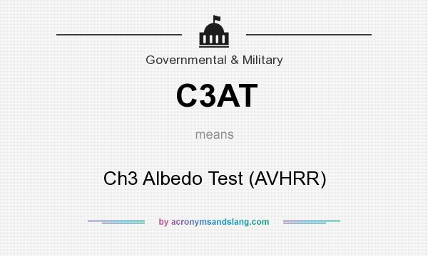 What does C3AT mean? It stands for Ch3 Albedo Test (AVHRR)