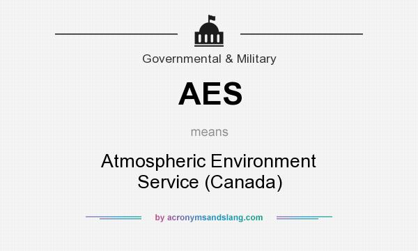What does AES mean? It stands for Atmospheric Environment Service (Canada)
