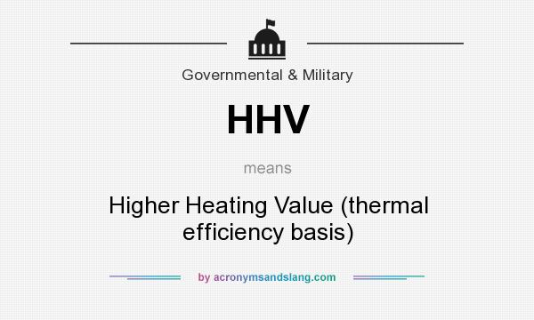 What does HHV mean? It stands for Higher Heating Value (thermal efficiency basis)