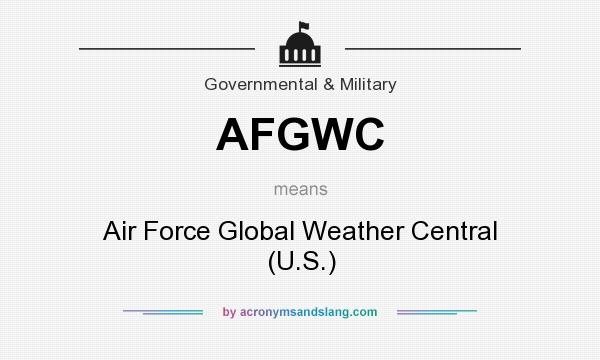 What does AFGWC mean? It stands for Air Force Global Weather Central (U.S.)
