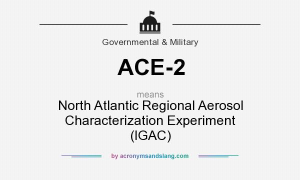 What does ACE-2 mean? It stands for North Atlantic Regional Aerosol Characterization Experiment (IGAC)